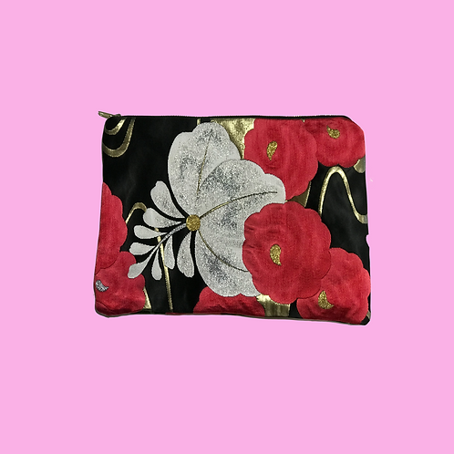 Up-cycled Clutch Bag Made from Vintage Obi
