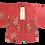 Thumbnail: Vintage Pink Silk Kimono with Flower Detail