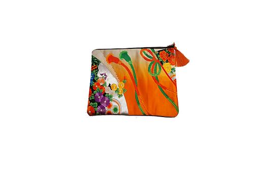 JIYUU Large Orange Obi Clutch