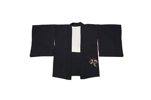 HAORI Black Embroidery
