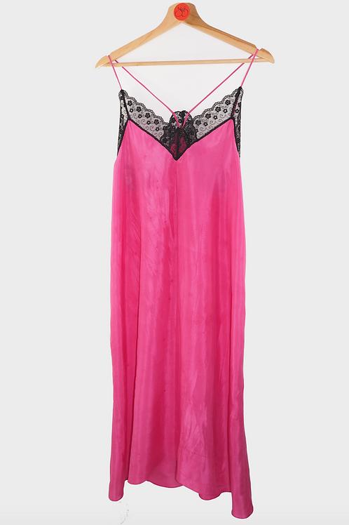 Repurposed  Slip Dress Made from Vintage Silk Kimono