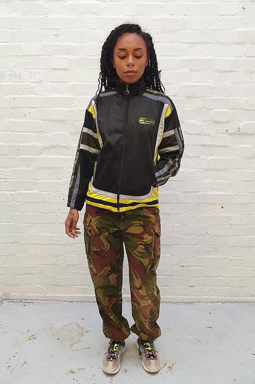 Vintage Black and Yellow Diadora Jacket