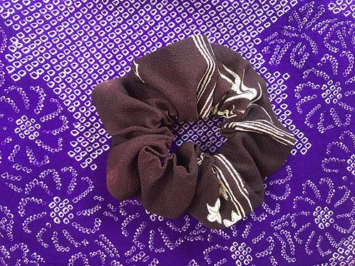 Vintage Kimono Up-cycled Silk Hair Srunchie