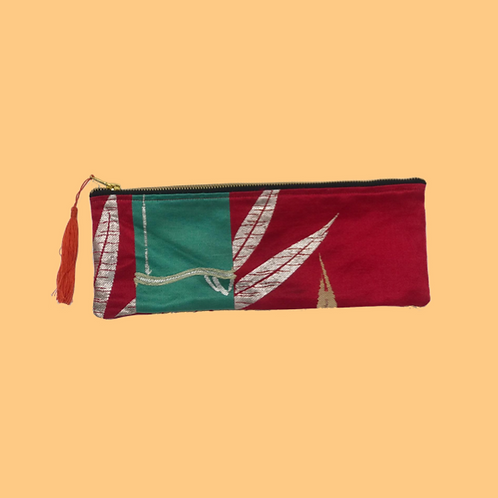 Up-cycled Pencil Case Made From Vintage Japanese Obi