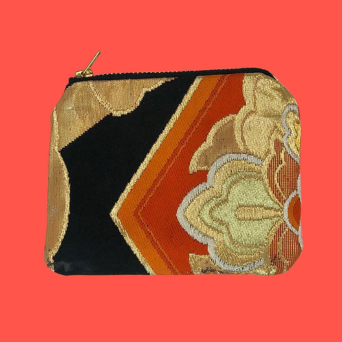 Up-cycled Coin Purse made from Vintage Obi Belt