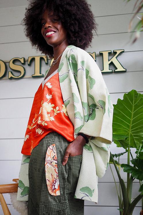 MOTTAINAI Orange Silk Camisole