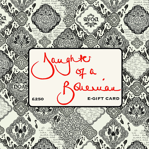 Daughter Of A Bohemian £250 E-Gift Card