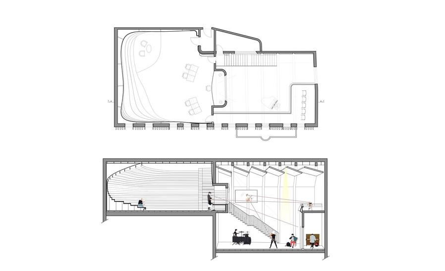 Section & Plan big recording room