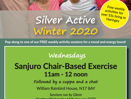 Sanjuro Chair-Based Exercise, Wednesday's11am - 12noon