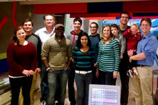 Group bowlilng night with Dr. David Henning's (Fall 2014)