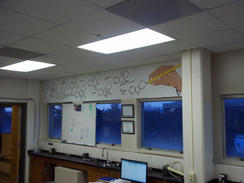 Lab wall art painted by Huro Araujo (2014)