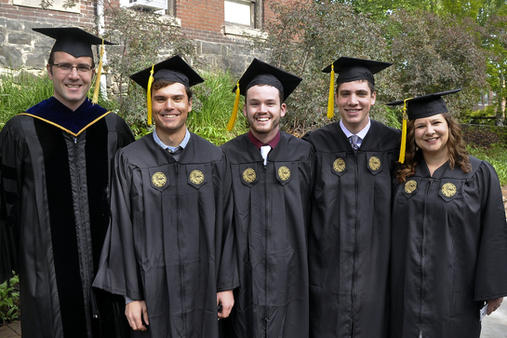 Joe, Kyle, Conner, Hailey graduating (2015)
