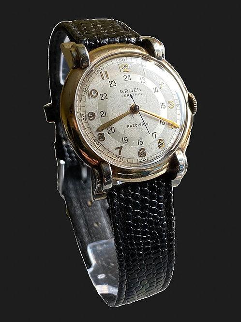 c.1949 Gruen Verithin Pan Am Gents Pilots Watch