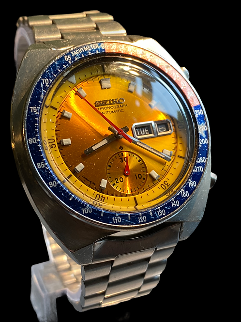 1970's Seiko 6139 The Pogue Pepsi Automatic Gents Chronograph