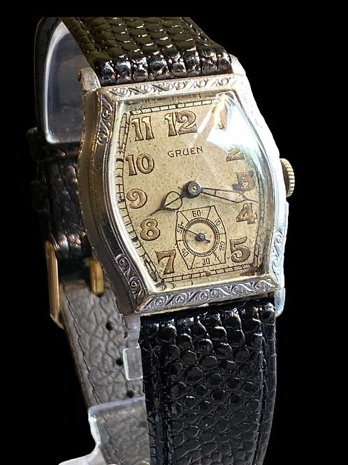 1920's Gruen Deco Style Gents Dress Watch