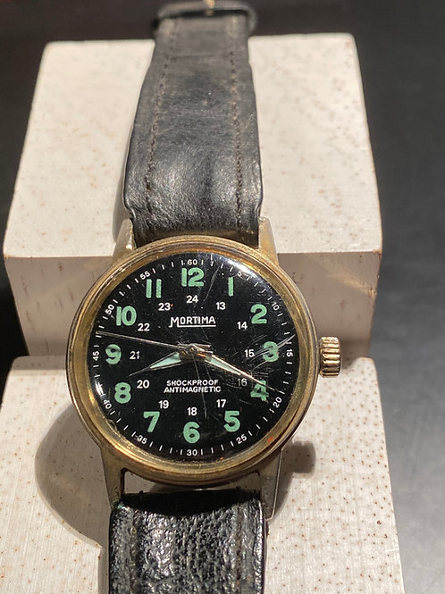 1960's Mortima Military Style Gents Watch