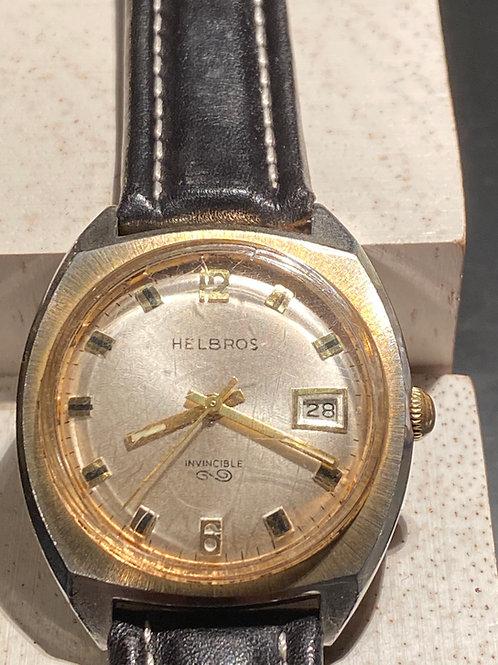 1970's Helbros Invincible Gents Dress Watch