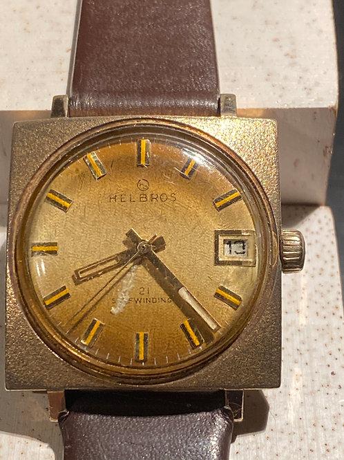 1970's Helbros 21 Selfwinding Gents Dress Watch