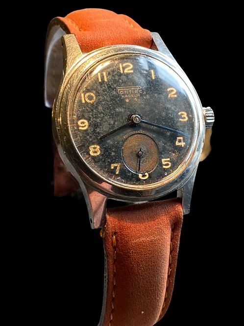1950's Pontiac Nageur Gents Military Style Dress Watch