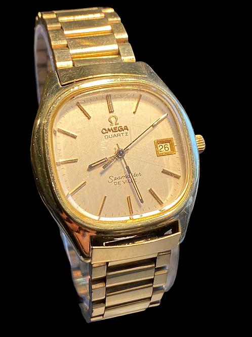 1970's Omega Quartz Seamaster Deville Gents Bracelet Watch