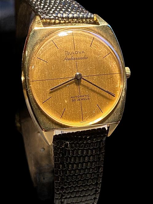 1966 Bulova Ambassador 18ct Gold Automatic Gents Dress Watch