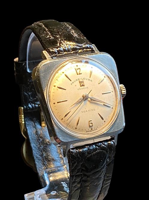 1960's Favre Leuba Sea King Gents Asymmetrical Dress Watch