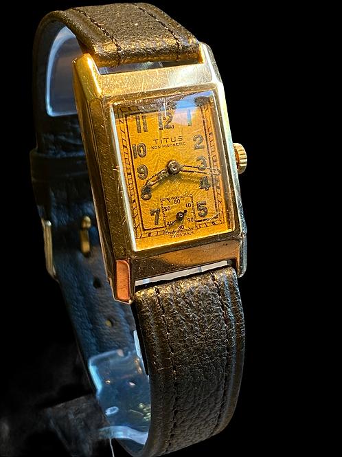 1920's Titus 9ct Gold Gents Dress Watch
