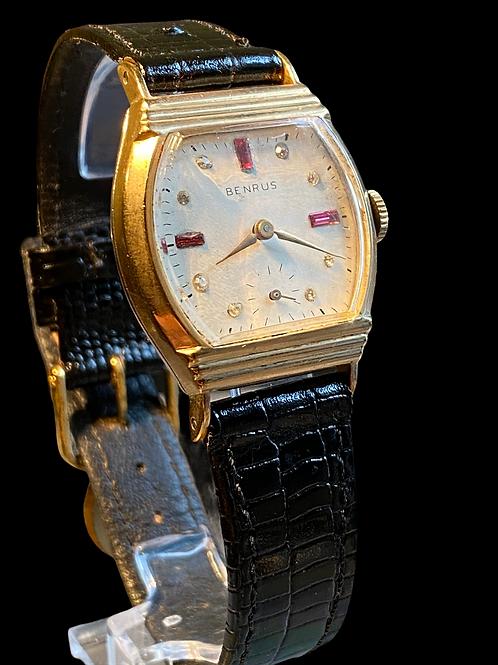 1950's Benrus Rhinestone set Gents Cocktail Watch