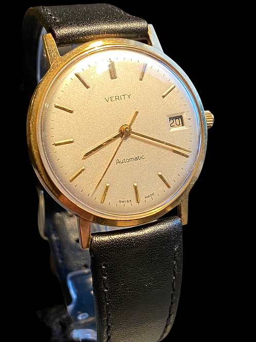 1990's Verity 9ct Yellow Gold Automatic Gents Dress Watch