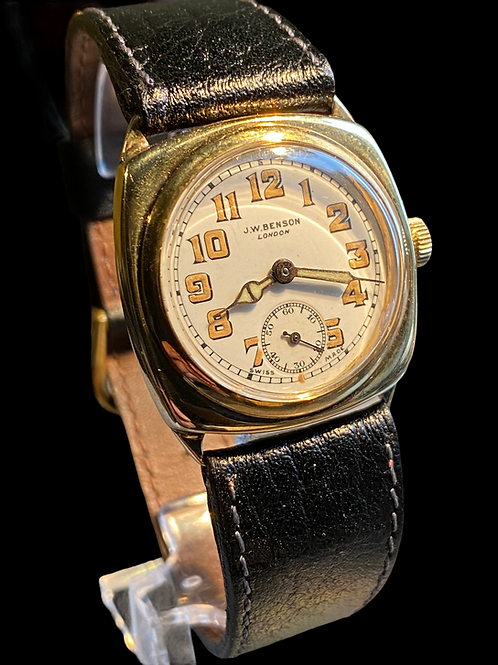 1949 J.W.Benson 9ct Yellow Gold Gents Dress Watch