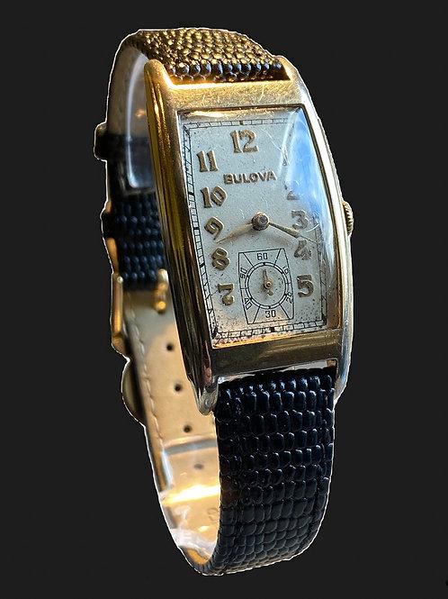 c.1937 Bulova Minute Man Curvex style Gents Dress Watch