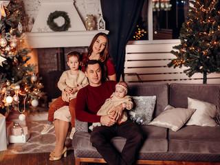 Новогодняя съемка для Кати и ее семьи.