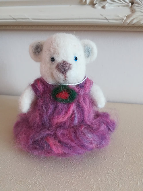 Artisan Ooak Hand crafted needle felt teddy bear