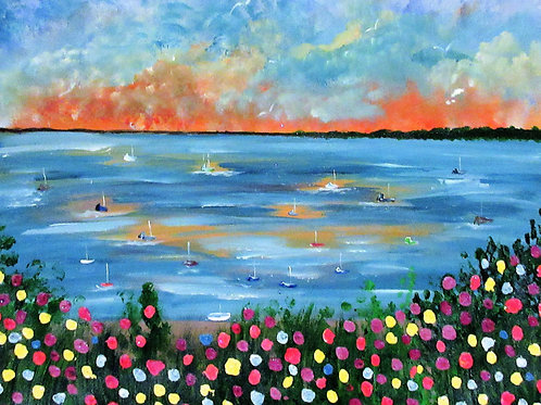 Acrylic seascape canvas