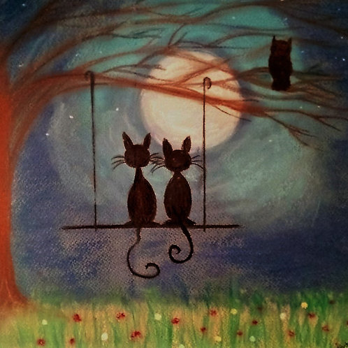 Under the moon of Love - Greeting card