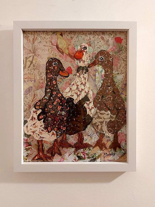 Ooak Dancing Ducks Collage