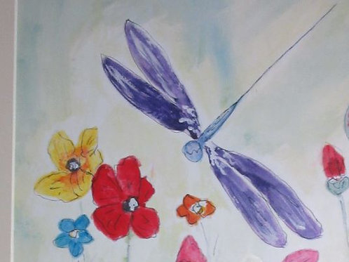 (24)Dragonfly - greeting card