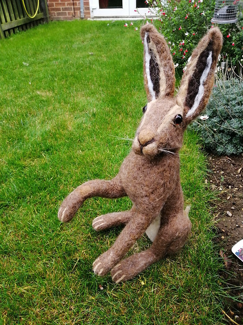 Hand crafted Needle felted hare