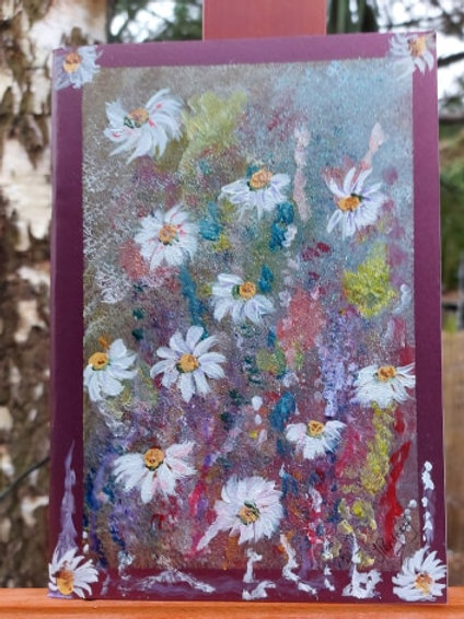 Oops a daisy Handpainted A5 Journal
