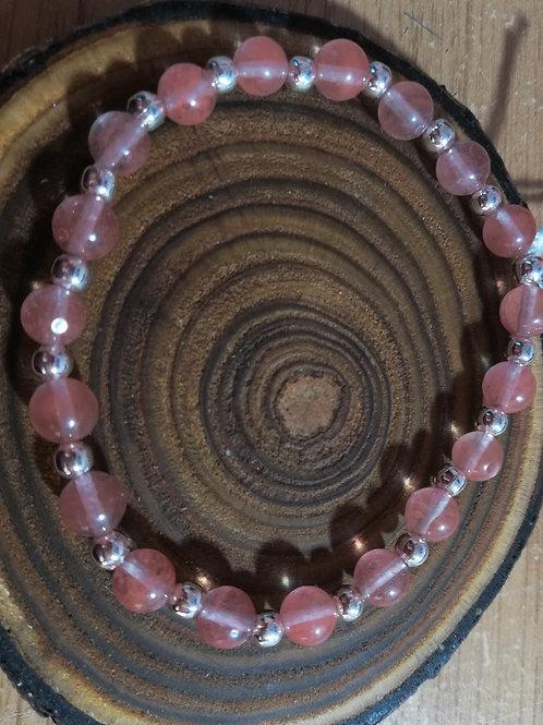 Cherry Quartz Gemstone Bracelet