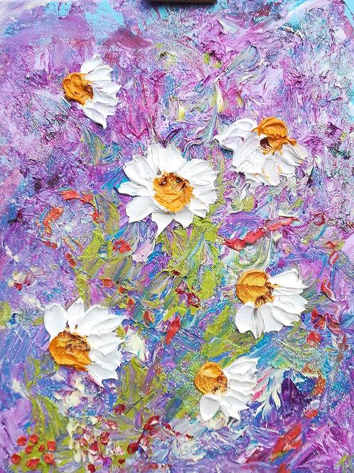 Artisan Oil on canvas - daisies