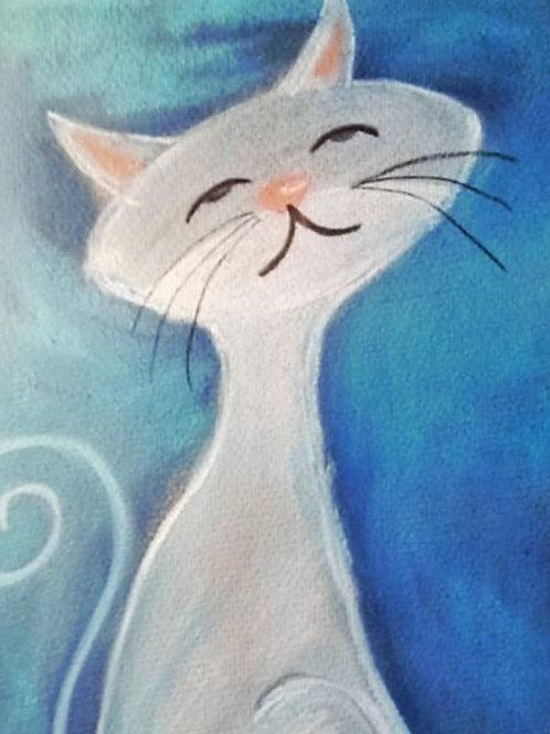(32) Cat 2 Miss Sassy Greeting Card