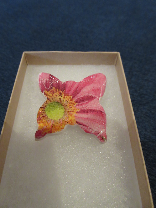 Ooak Artisan Pink Butterfly Brooch