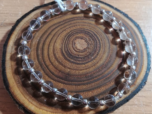Clear Quartz (Rock Crystal) Gemstone Bracelet