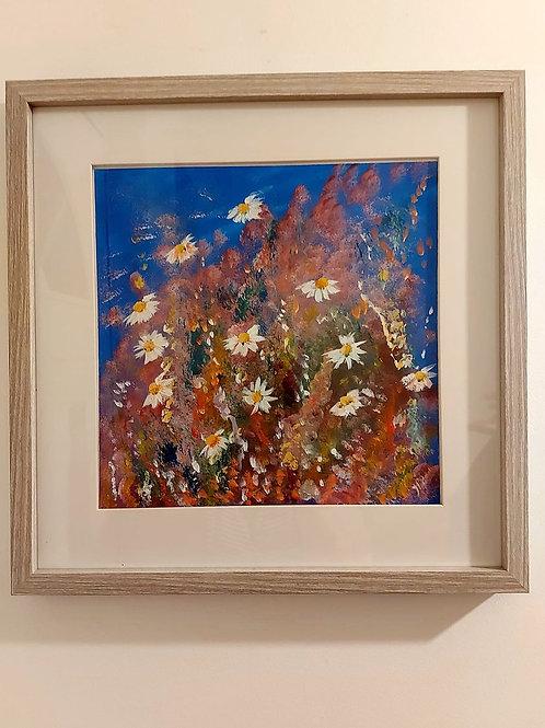 Wild Daisies - Original acrylic art
