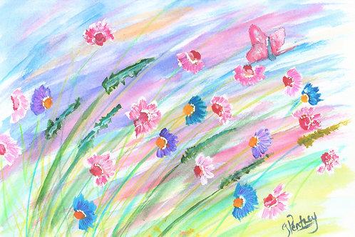 (22) Flowers & Butterflies Greeting card