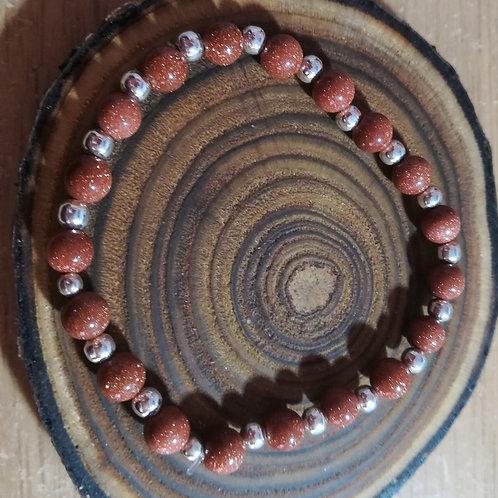 Goldstone Gemstone Bracelet