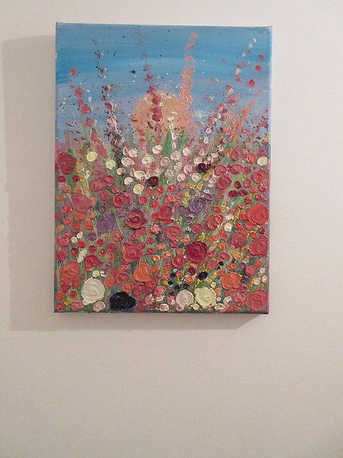 Sunrise - Artisan Ooak Oil and Acrylic on canvas