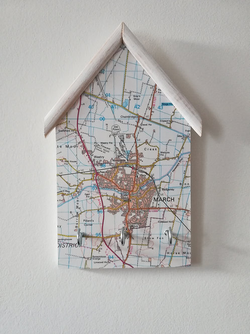 Artisan Original OS Map Keyholder- March Cambridgeshire
