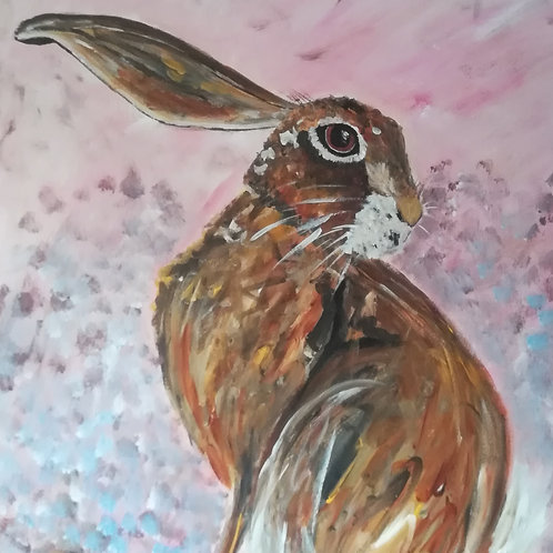 Original Acrylic Hare Painting